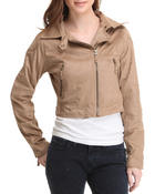 Outerwear - The Eli Faux Suede Moto Light Jacket