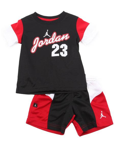 Air Jordan Boys Black Aj Retro Short Set (4-7)