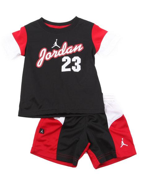 Air Jordan Boys Black Aj Retro Short Set (2T-4T)