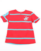 Sizes 8-20 - Big Kids - BHPC Y/D STRIPE V-NECK TEE (8-18)
