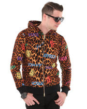 -FEATURES- - Unisex Royal vs. Leopard Hoodie