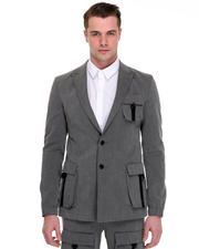 -FEATURES- - Patch Pocket Blazer w / Elastic Wrist