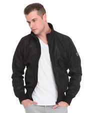 Jackets & Coats - Conway Nylon Bomber with Zip Sleeve Detail
