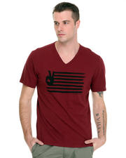 Men - Peace Flag V-Neck Tee