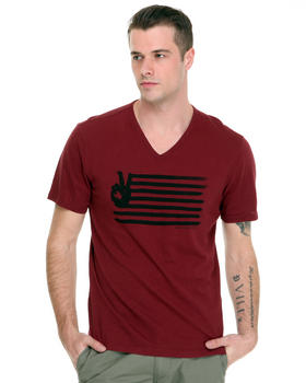 John Varvatos U.S.A. - Peace Flag V-Neck Tee