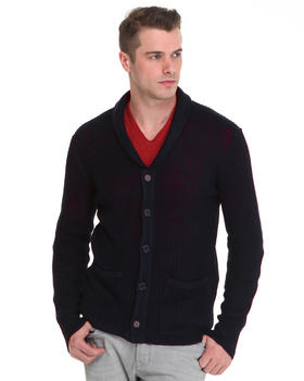 DJP OUTLET - Cardigan w/ Patch Pockets & Elbow Patch