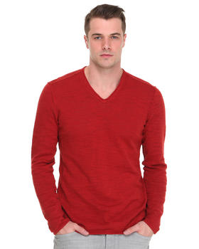 John Varvatos U.S.A. - V-Neck Sweater w/ Pintuck Details