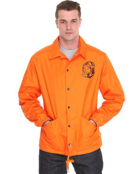 Ur-ID 136845 Billionaire Boys Club Men Sideline Nylon Jacket Orange X-Large by Billionaire Boys Club