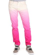 Men - White Dip Dye Helmet 5PCKT Jean