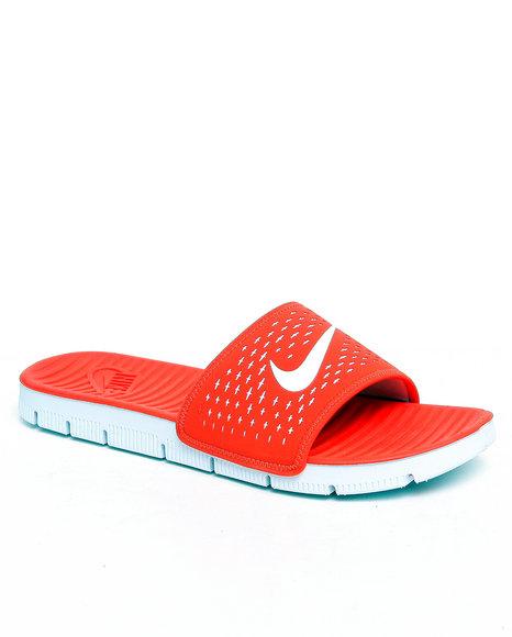Nike Men Orange Celso Motion Slide Sandals