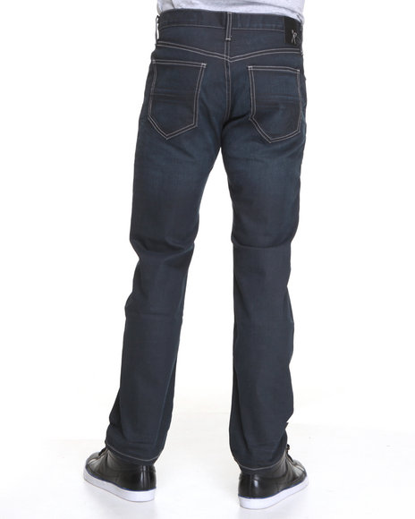 Ecko - Men Dark Wash 3D Used Wash Denim Jeans