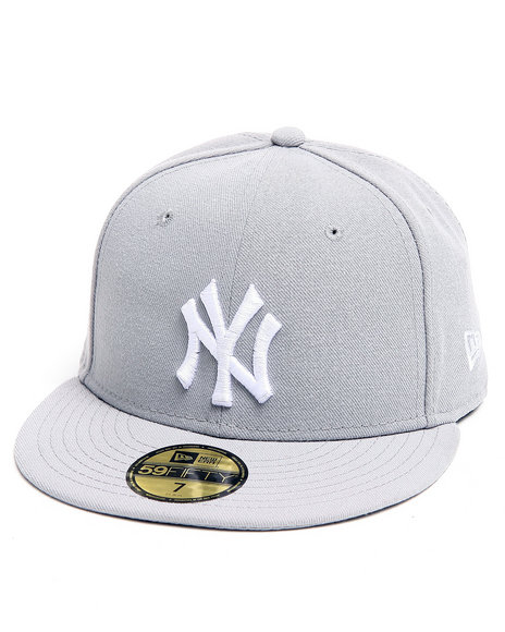New Era - Men Grey New York Yankees Mlb Basic 5950 Fitted Hat