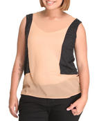 Women - Chiffon sleeveless top  (plus)