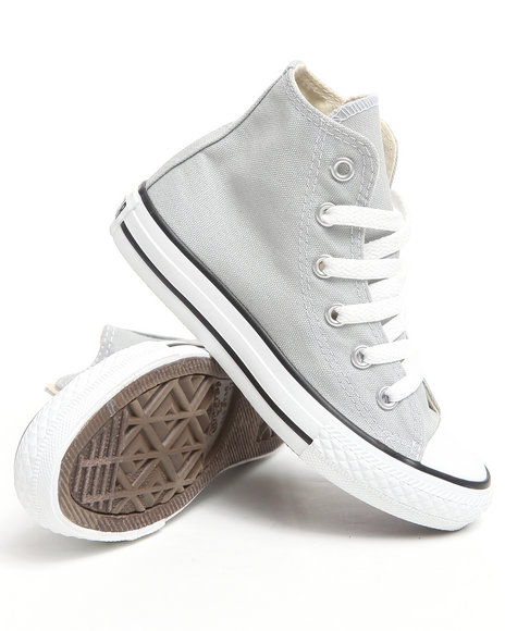 Converse Girls Light Grey Chuck Taylor All Star Hi (11-3)