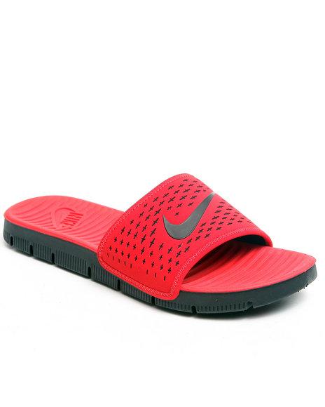 Nike Men Red Celso Motion Slide Sandals