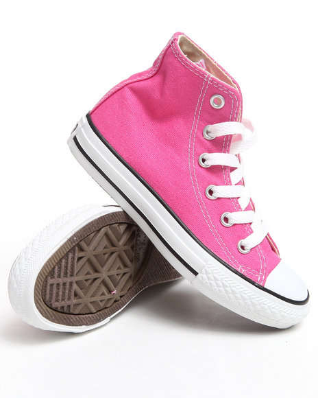 Converse Girls Pink Chuck Taylor All Star Hi (11-3)