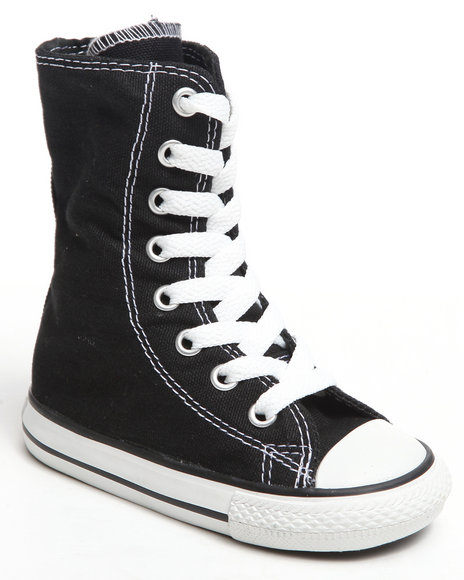 Converse Girls Black Chuck Taylor All Star Tall (5-10)