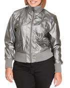 Outerwear - Galaxay metallic bomber jacket (Plus)