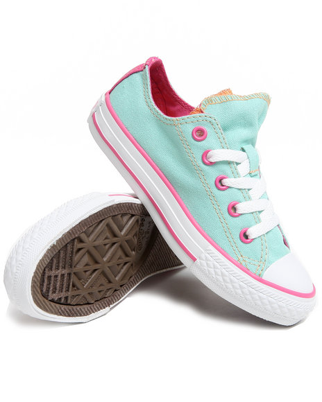 Converse Girls Green Chuck Taylor All Star Double Tongue (11-3)
