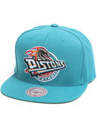 Men - Detroit Pistons NBA HWC Wool Solid 2 Snapback Hat