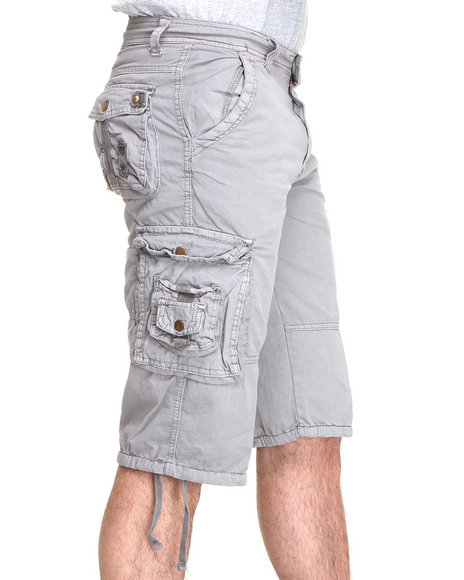 Basic Essentials Men Charcoal Basic Cargo Short