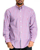 Nautica - Poplin L/S Plaid Button Down
