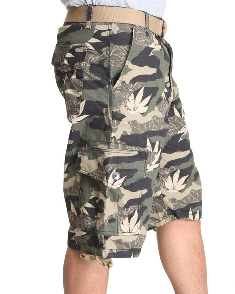 Southpole Men Camo Allover Printed Cargo Shorts