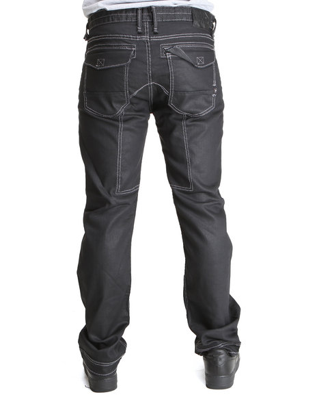 Basic Essentials - Men Dark Blue Cain & Able Coated Denim Pants