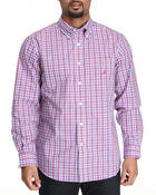 Men - Plaid Poplin Long Sleeve Button-Down