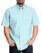 Men - Mini Plaid Poplin Short Sleeve Button-Down