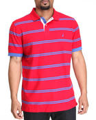 Men - Printed Strip Polo