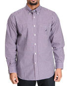 Men - Mini Plaid Button Down