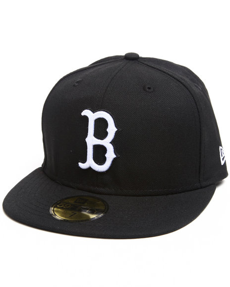 New Era - Men Black Boston Red Sox White/Black Emb 5950 Fitted Hat