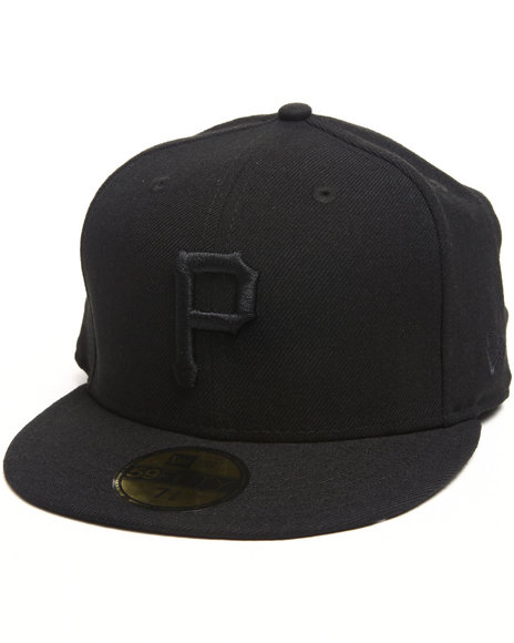 New Era - Men Black Pittsburgh Pirates All Black Everything 5950 Fitted Hat