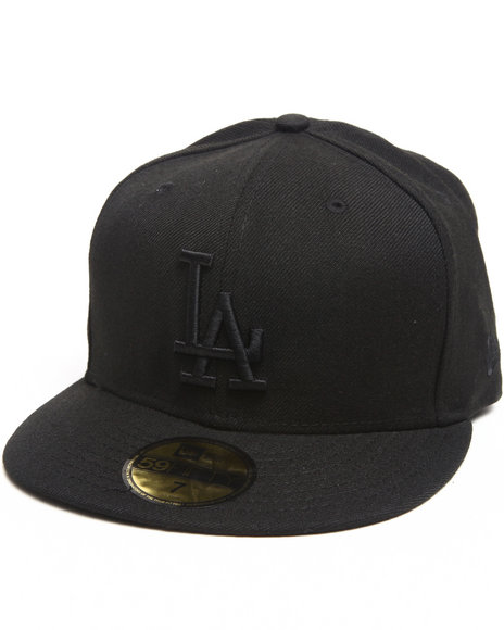 New Era - Men Black Los Angeles Dodgers All Black Everything 5950 Fitted Hat