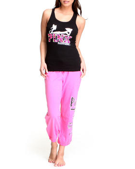 Graphix Gallery - Pink Panther Capri Sweat Pant and Knit Set