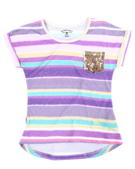 La Galleria - Striped Dolman Top (7-16)