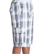 Men - Plaid Cargo Shorts