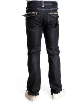 Basic Essentials - Cain & Able Coated Denim Pants