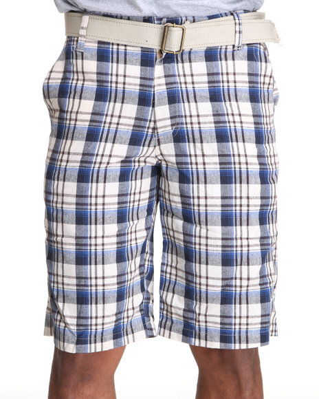 Basic Essentials Men Mens Plaid Shorts Blue 38 | Sku 1510734 | Buy ...