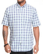 Shirts - Poplin Plaid Short Sleeve Button-Down