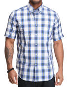 Nautica - Poplin SS Plaid Button Down