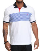 Shirts - Pieced Stripe Polo