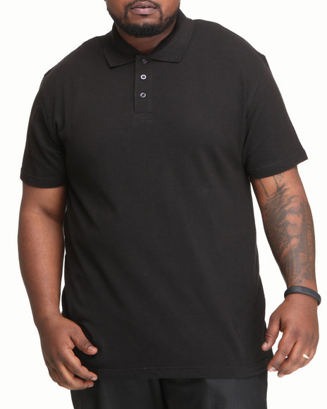 Southpole Men Black Solid Polo B&T