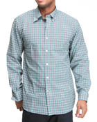 Shirts - Plaid Poplin Long Sleeve Button-Down