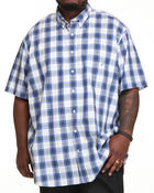 Shirts - Poplin S/S Plaid Button Down