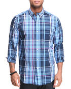 Chaps - PLAID L/S BUTTON DOWN SHIRT