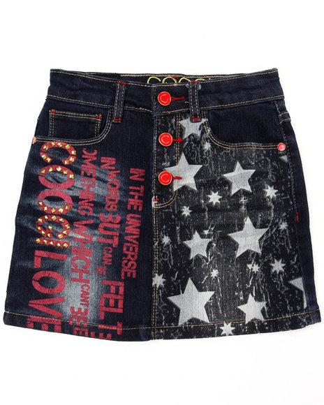 COOGI Girls Dark Wash Denim Skirt (7-16)