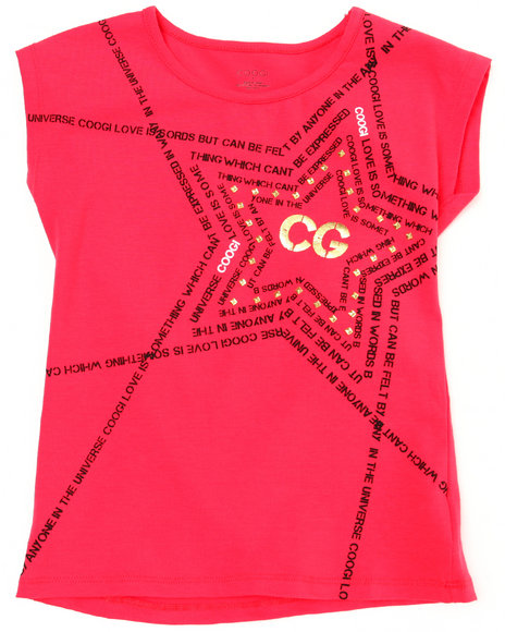 COOGI Girls Red Coogi Star Tee (7-16)