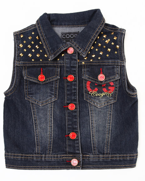 Coogi Girls Dark Wash Denim Vest (7-16)